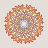 Vektorweinlese Mandala-Zeichenrahmen Dekorative Elemente der Weinlese Orientalisches Muster Lizenzfreies Stockfoto