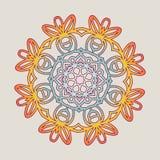 Vektorweinlese Mandala-Zeichenrahmen Dekorative Elemente der Weinlese Orientalisches Muster Lizenzfreie Stockbilder