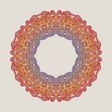 Vektorweinlese Mandala-Zeichenrahmen Dekorative Elemente der Weinlese Orientalisches Muster Stockfotos