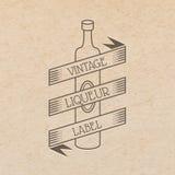 Vektorweinleseaufkleber Stockbild