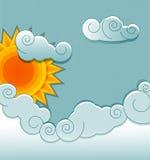 Sonne und Wolken Lizenzfreie Stockbilder