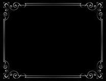 Vektorweinleserahmen auf einem schwarzen Hintergrund Stockbilder