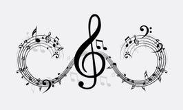 Vektorwelle der Anmerkung der klassischen Musik Lizenzfreies Stockbild