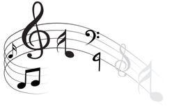 Vektorwelle der Anmerkung der klassischen Musik vektor abbildung