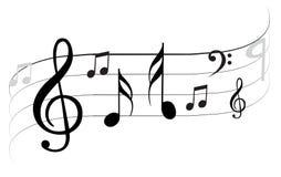 Vektorwelle der Anmerkung der klassischen Musik stock abbildung