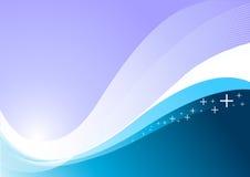 Vektorwellen-Hintergrund Lizenzfreies Stockfoto