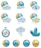 Vektorwettervorhersageikonen. Teil 2