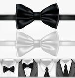 vektorwhite för svart tie Royaltyfria Foton