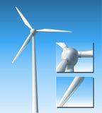 Vektorwindturbine Stockbilder