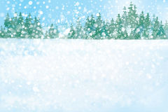 Vektorwinter-Waldhintergrund Stockbilder