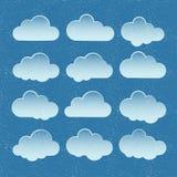 Vektorwolken Lizenzfreie Stockfotografie