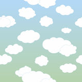 Vektorwolken auf blauem Himmel Stockbild