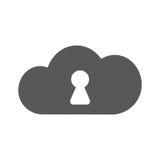 Vektorwolken-Sicherheitsikone Sicherer Anschluss Lizenzfreies Stockfoto