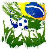 Vektorworldcup Brasilien stock abbildung