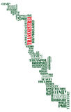 Vektorwortkarte des unerkannten Landes PMR Stockfoto