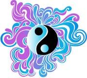 vektoryang för illustration psychedelic yin Arkivbilder