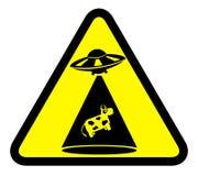 Vektorzeichen der Kuhabduktion lizenzfreie abbildung