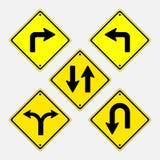 Vektorzeichen, Installation des Richtungsverkehrs Stockfoto