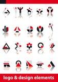 Vektorzeichen- und -auslegungelemente stock abbildung