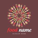 Vektorzeichen zeigt Mahlzeiten Lizenzfreie Stockfotografie