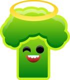 Vektorzeichnung des Brokkolis mit Halo Stockbilder