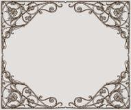 Vektorzeichnung eines dekorativen Rahmens in der Jugendstilart stock abbildung