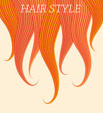 Vektorzeichnung eines langen Haares kann als Visitenkarten und Werbung und Einladung und Gutschein benutzt werden Stockbild