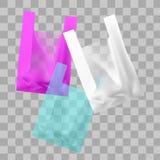 Vektorzeichnung von farbigen Plastiktaschen vektor abbildung