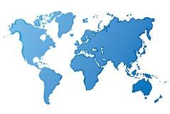 Vektorzeichnungskarte der Welt Lizenzfreies Stockfoto