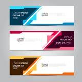 Vektorzusammenfassungsdesign-Fahnenschablone lizenzfreie abbildung