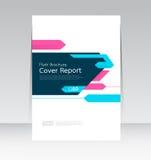 Vektorzusammenfassungsdesignabdeckungsberichts-Planschablone lizenzfreie abbildung