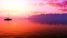 Vela épica de la puesta del sol Fotos de archivo libres de regalías