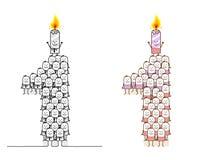 Vela 1 del cumpleaños ilustración del vector