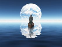 Vela al nuevo planeta Foto de archivo libre de regalías