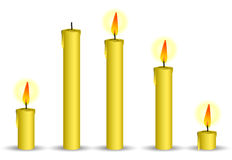Vela amarilla Imágenes de archivo libres de regalías