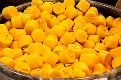 Vela amarilla Foto de archivo libre de regalías