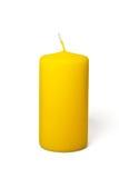 Vela amarilla Fotos de archivo libres de regalías