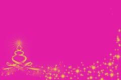Vela amarilla con la estrella dibujada por las líneas en la magenta Foto de archivo libre de regalías