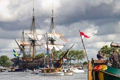 Vela Amsterdam 2010 - Vela-en desfile Foto de archivo libre de regalías