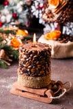Vela aromática de la Navidad Imagen de archivo libre de regalías