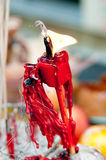 Vela china roja en Año Nuevo chino Fotos de archivo libres de regalías