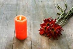 Vela com flores Imagem de Stock