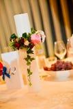 Vela com ornamento das flores Imagem de Stock Royalty Free