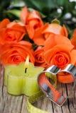 Vela com rosas Imagem de Stock Royalty Free