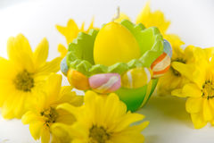 Vela como huevo de Pascua Fotografía de archivo libre de regalías