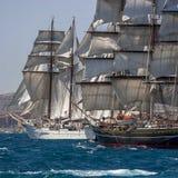 Vela completa dos navios altos fotografia de stock royalty free