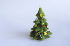 Vela da árvore de Natal Fotos de Stock