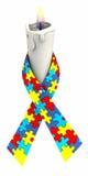 Vela da fita do autismo Fotos de Stock