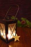 Vela da lanterna elétrica com estrela Fotos de Stock Royalty Free