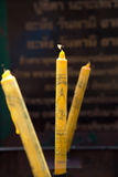 Vela de Buda con el fuego Fotos de archivo libres de regalías